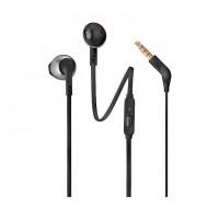 JBL T205 Pure Bass Metal Earbud Headphones with Mic (Black)