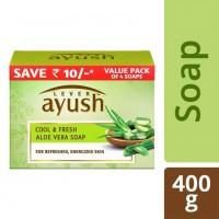 Lever Ayush Cool and Fresh Aloe Vera Soap, 100 g